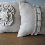 Ruffled Linen Throw Pillows