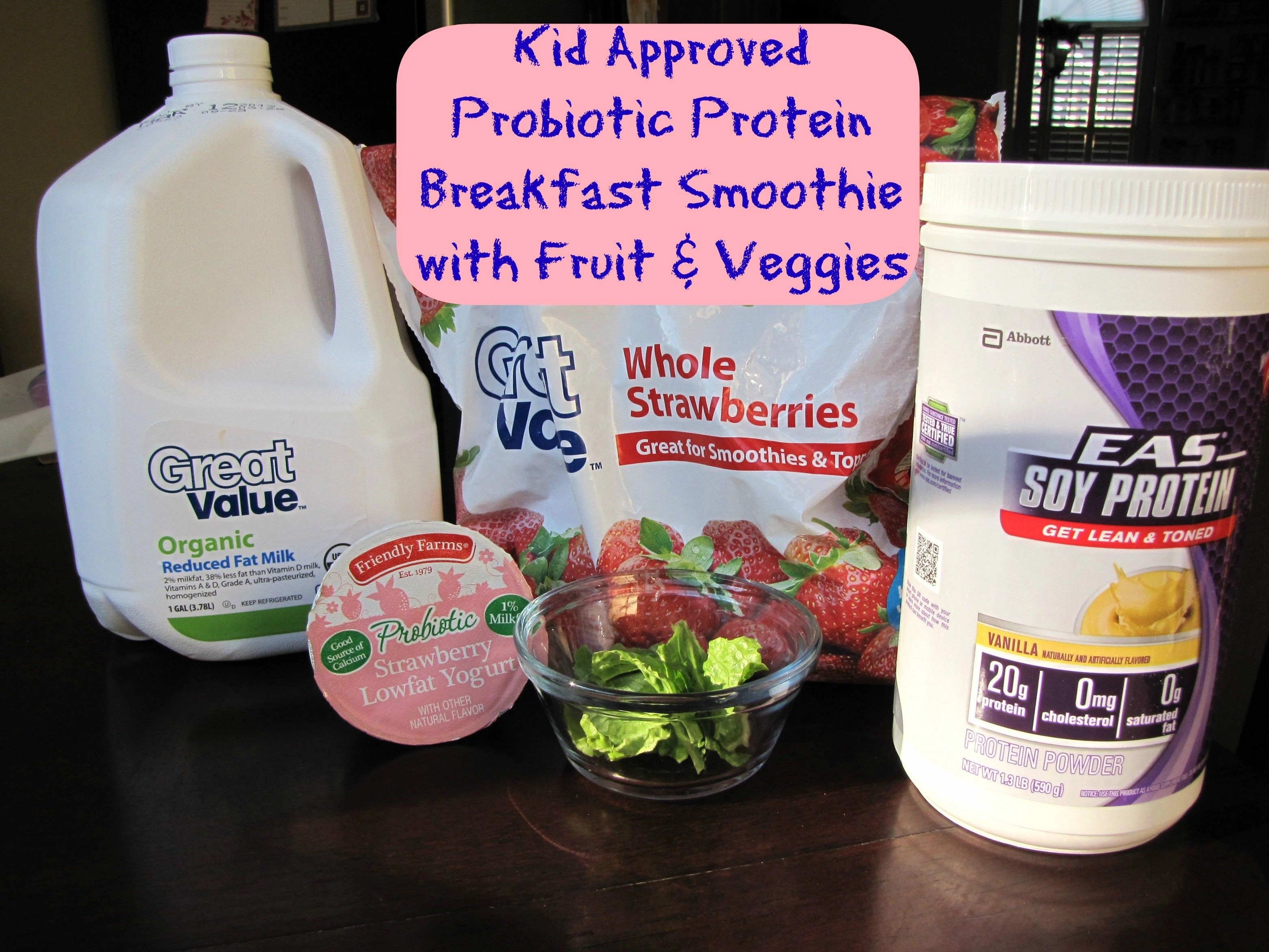 Kid Approved Probiotic Protein Breakfast Smoothie