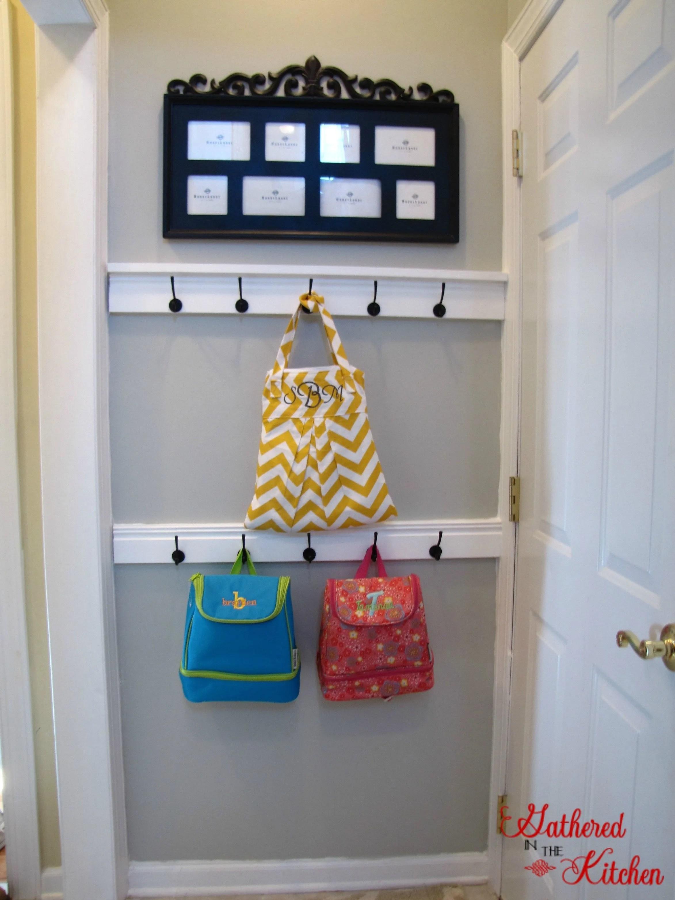 DIY Entry Door Coat Hook Tutorial: Gathered In The Kitchen