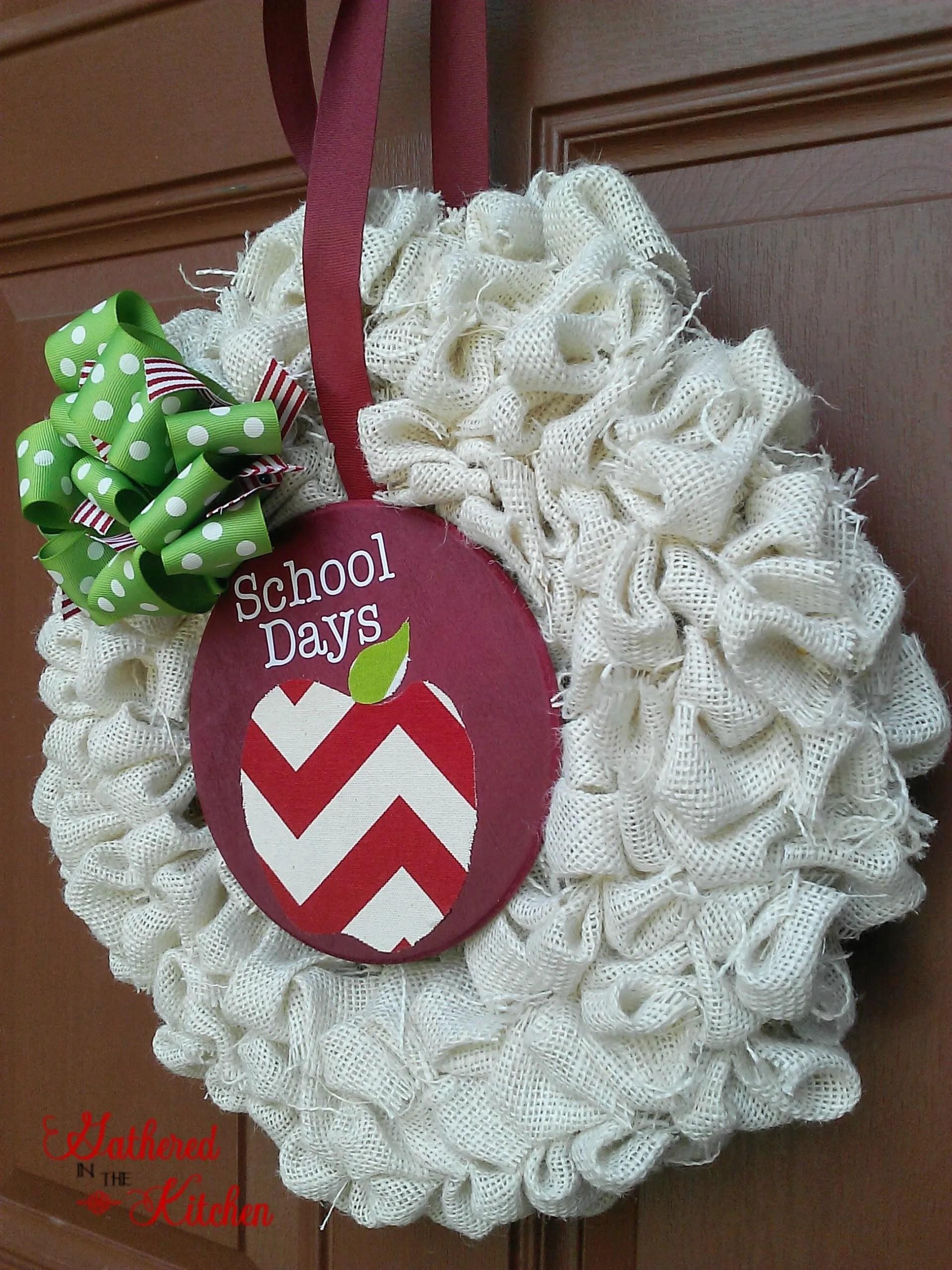 back to school burlap bubble wreath tutorial