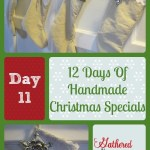 12 Days Of Handmade Christmas Specials – Day 11: Drop Cloth Stockings with Lace and Burlap Trim