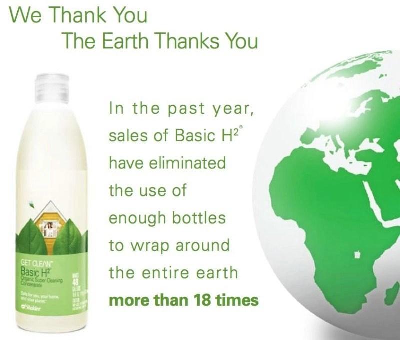 Basic H - plastic bottles around the earth