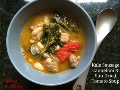 Kale Sausage Cannelloni & Sun Dried Tomato Soup