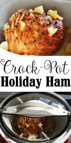 crockpot holiday ham - the best thanksgiving hack ever!