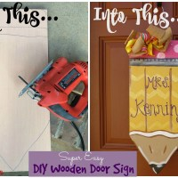 DIY Hand Painted Wooden Pencil Door Sign