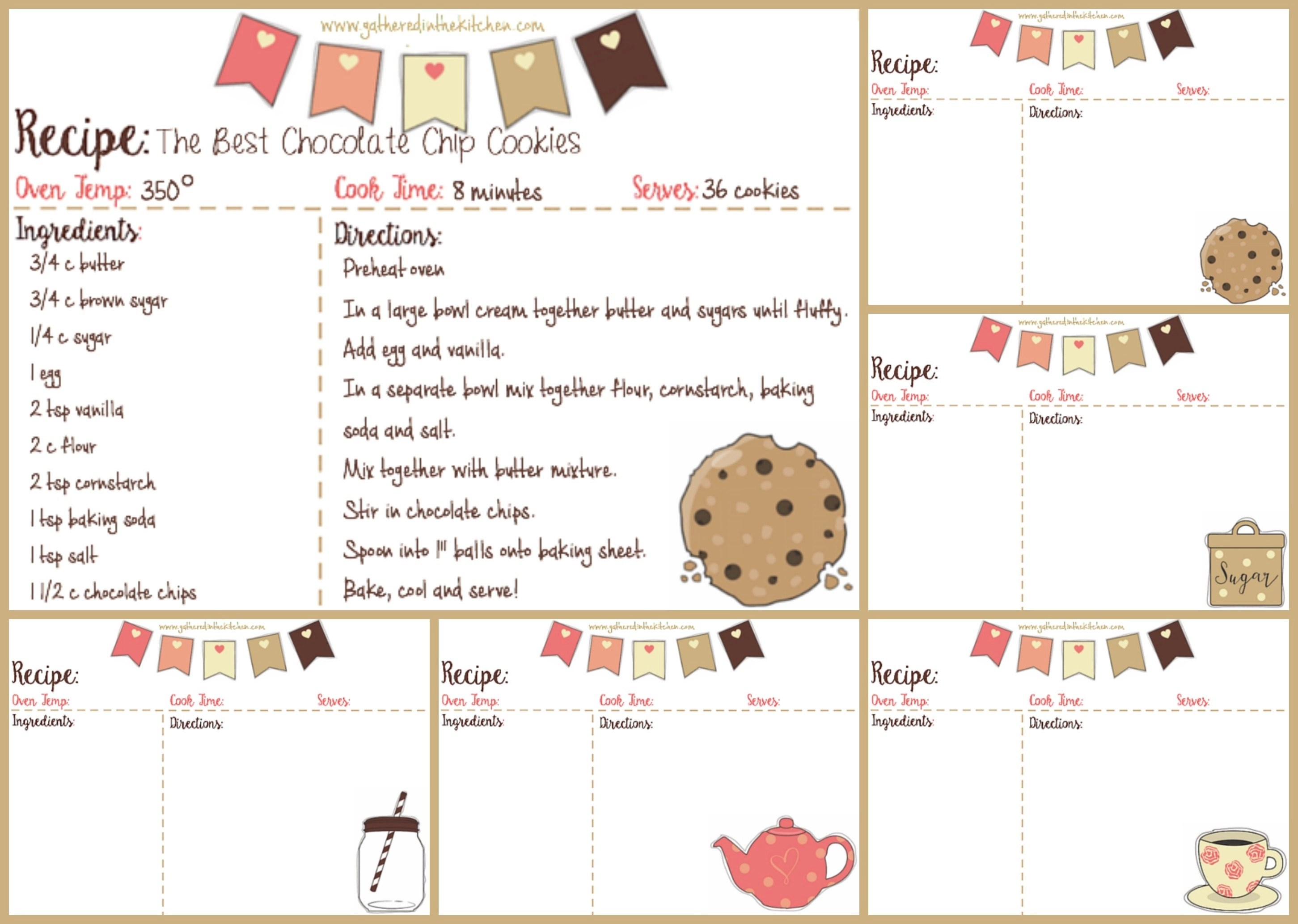Flag Recipe Card Download KIT IMAGE