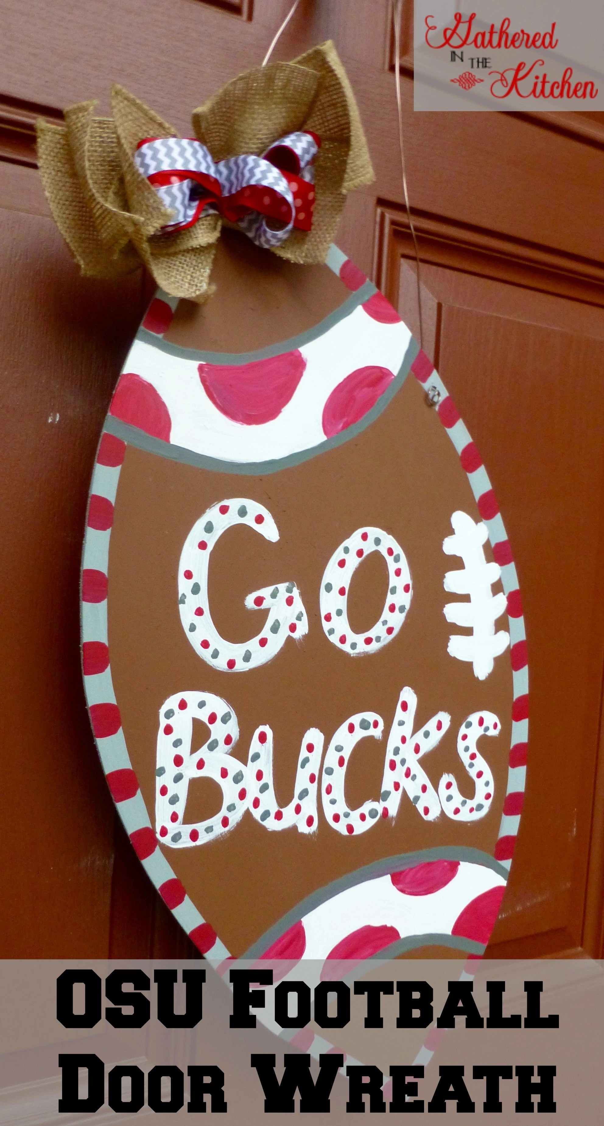 OSU football door wreath - 2