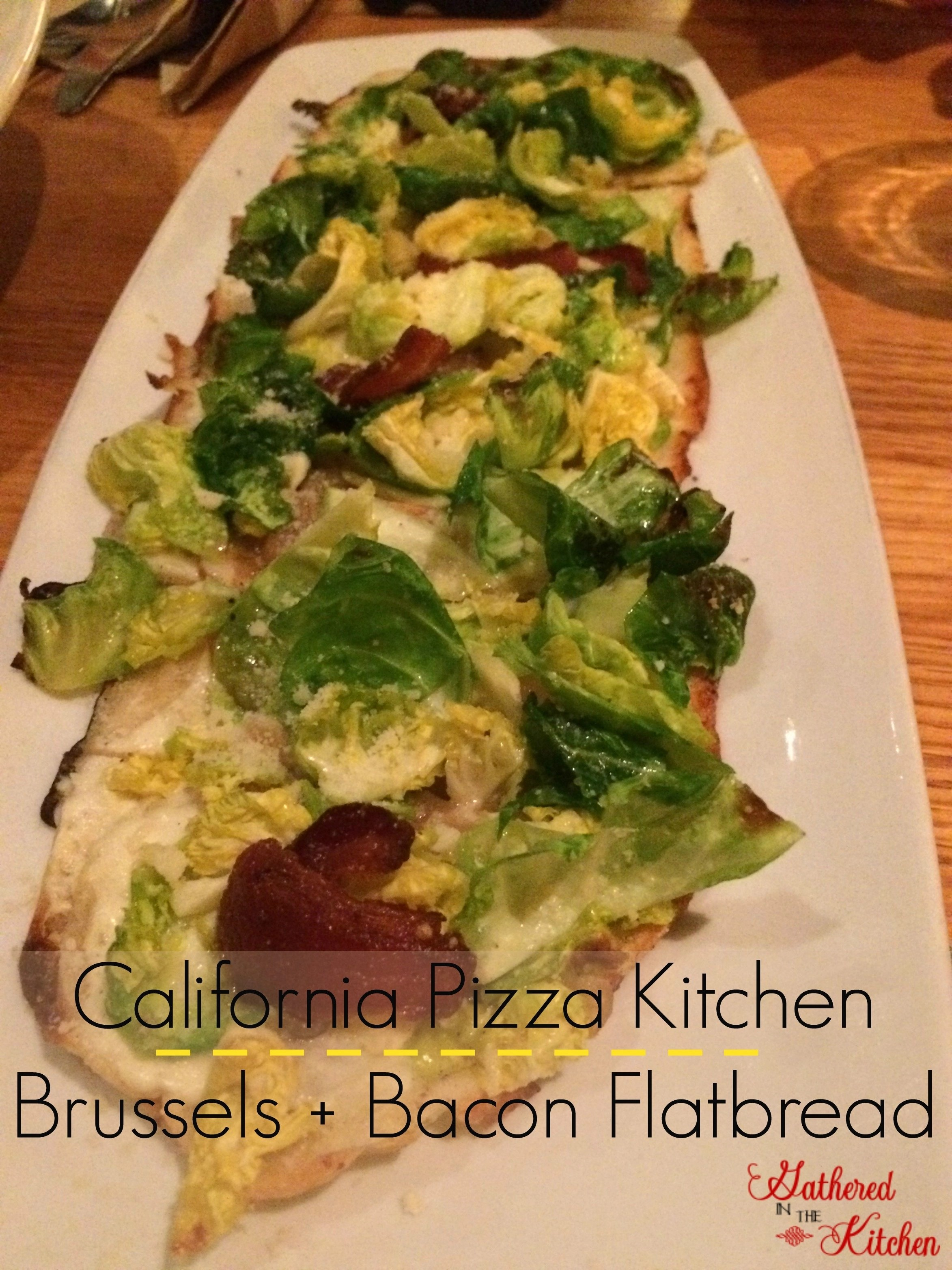 california pizza kitchen brussels + bacon flatbread