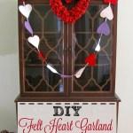 Valentine's Day Felt Heart Garland