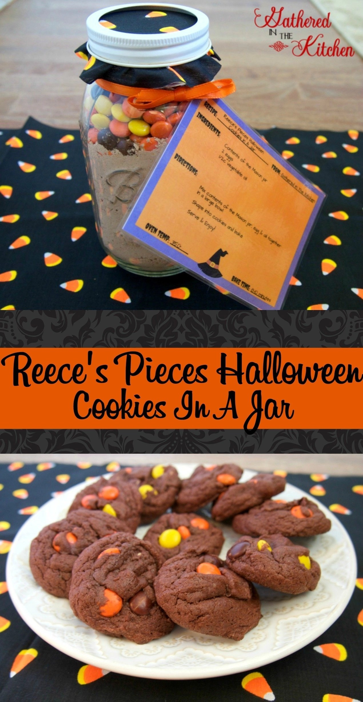 reeces pieces halloween cookies in a jar printable
