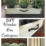 DIY Wooden Box Centerpiece for Under $5