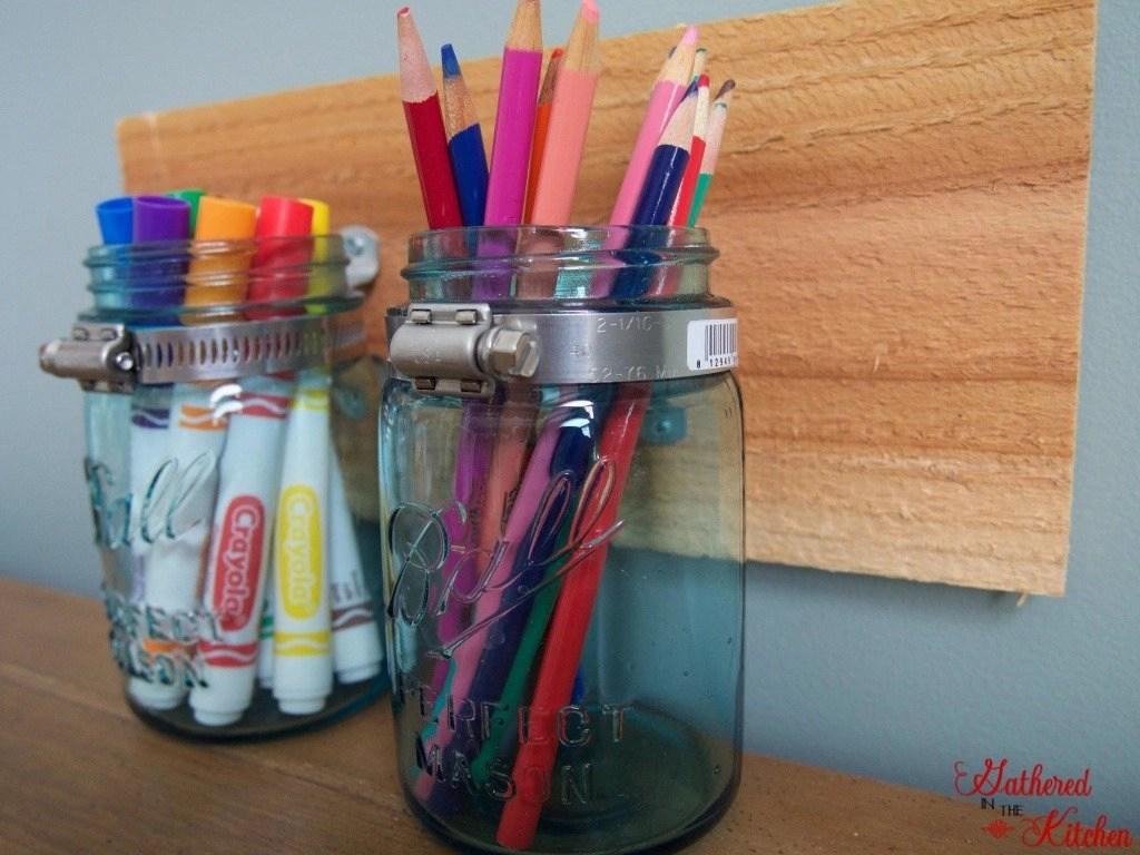 Mason Jar Supply Organizer