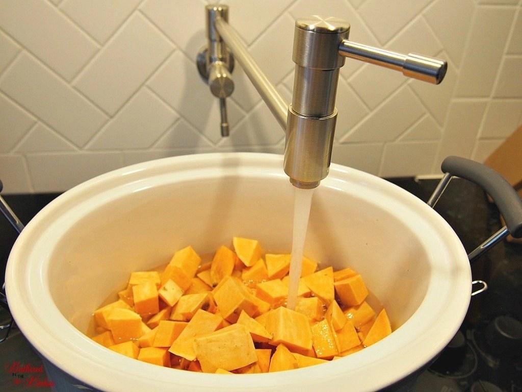 Crock Pot Sweet Potato Soufflé - the perfect holiday side dish!