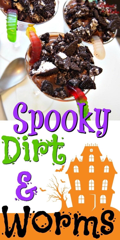 Spooky Dirt & Worms Dessert