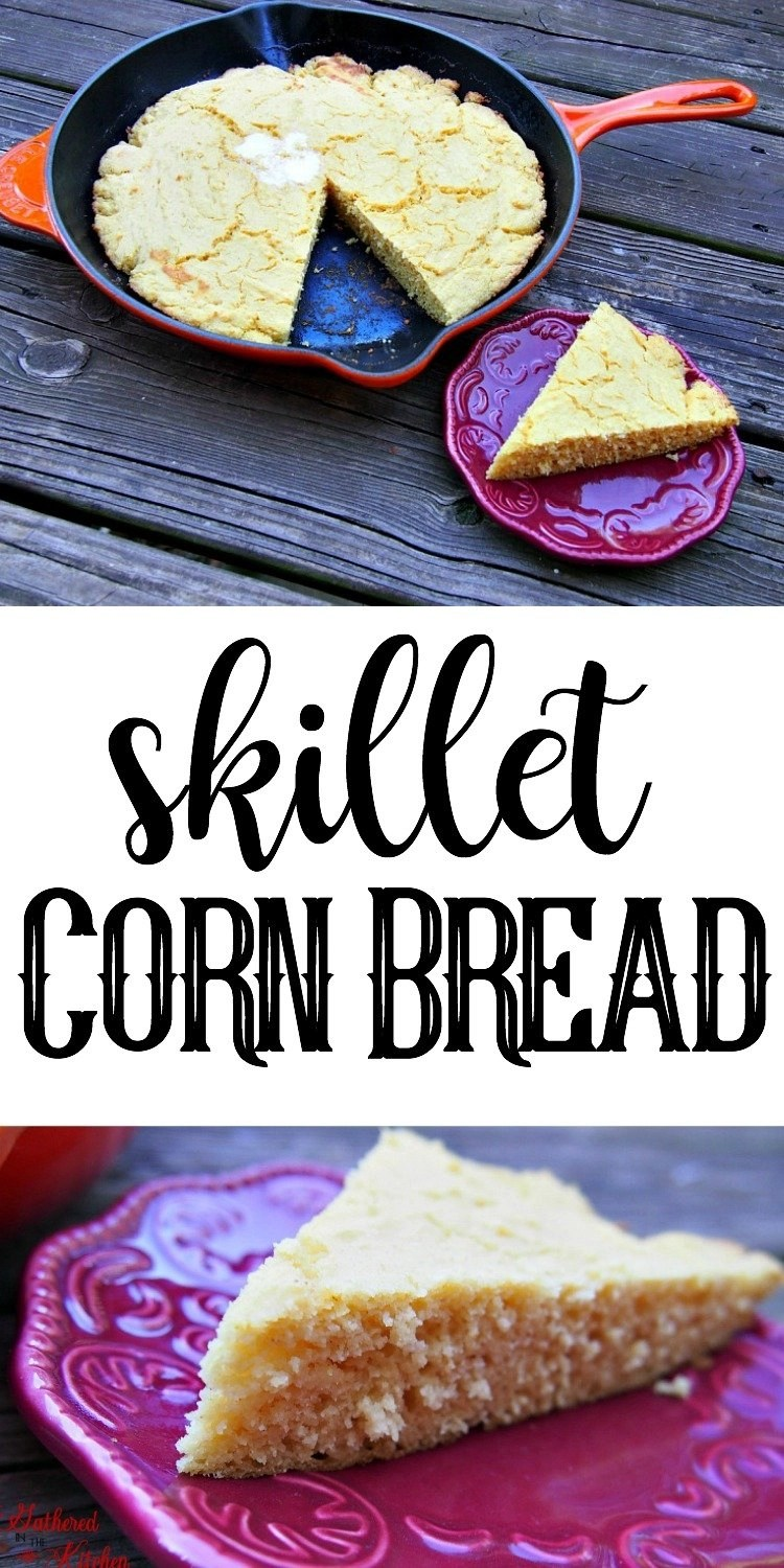 skillet corn bread - easy, moist and fluffy!