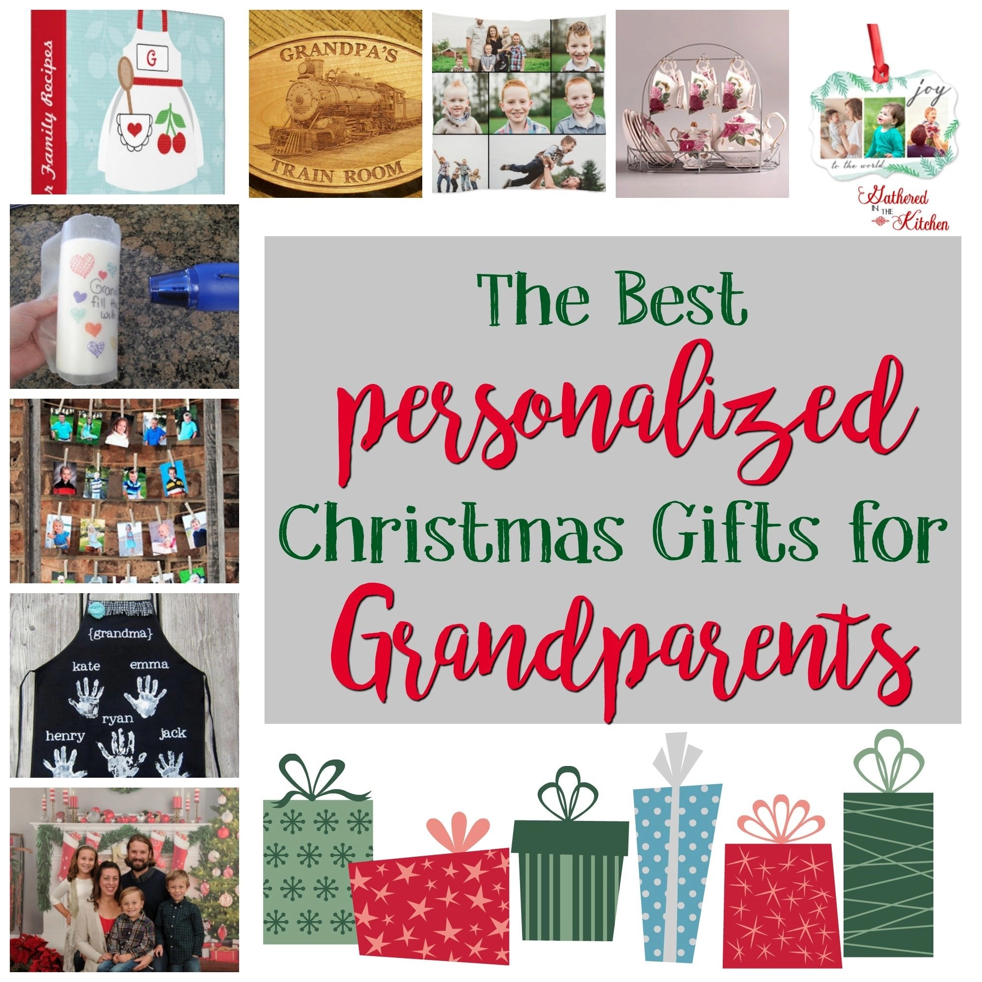 Personalized Holiday Gifts for Grandparents - Gathered In The Kitchen