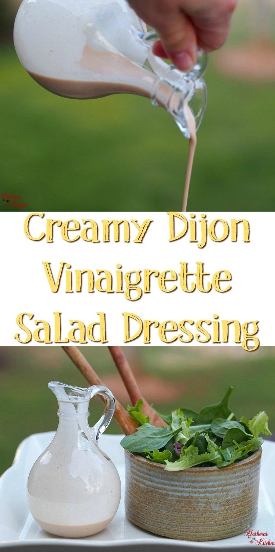 Creamy Dijon Vinaigrette Salad Dressing