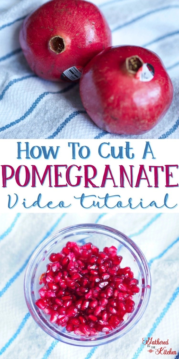 How To Cut A Pomegranate - video tutorial