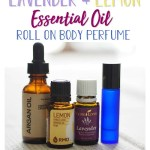 Lavender Lemon Essential Oil Roll On Body Perfume
