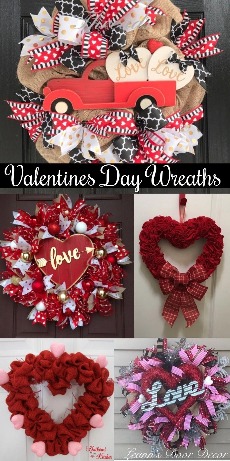 Valentines day wreath ideas for front doors gathered in the kitchen valentines day wreath ideas for front doors rubansaba