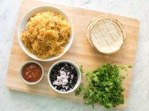 spaghetti squash and black bean tacos
