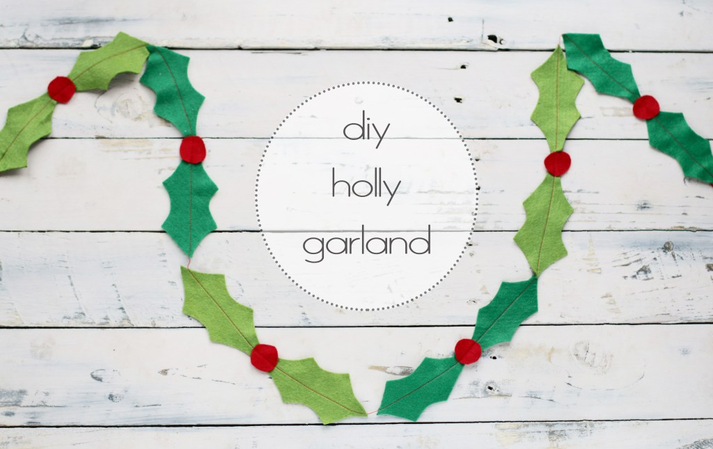 kids that sew: diy felt holly garland