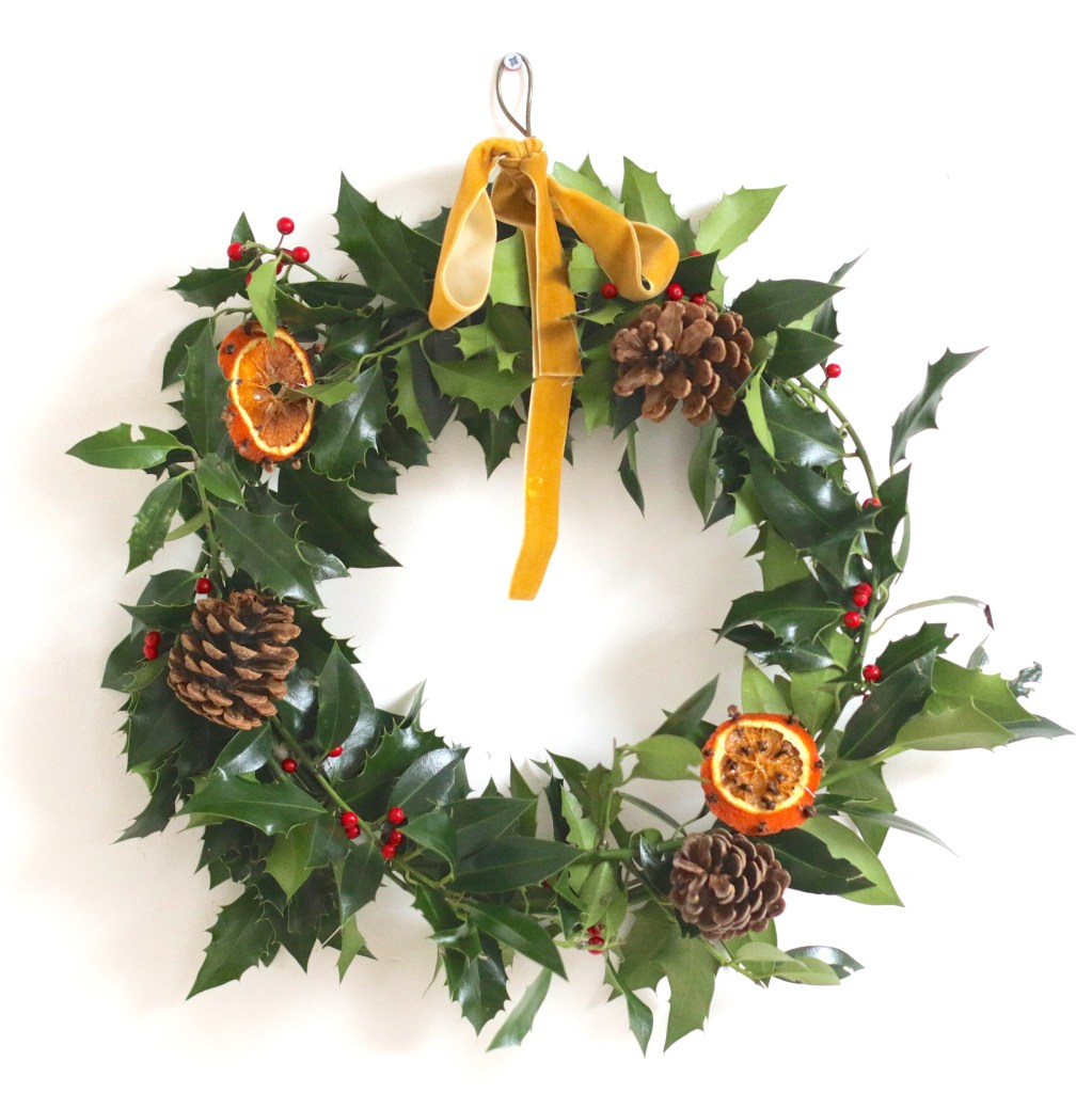 diy. christmas wreath.