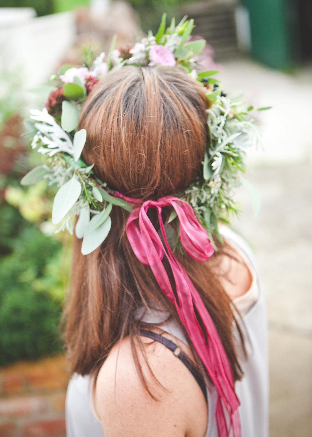 floral crown back