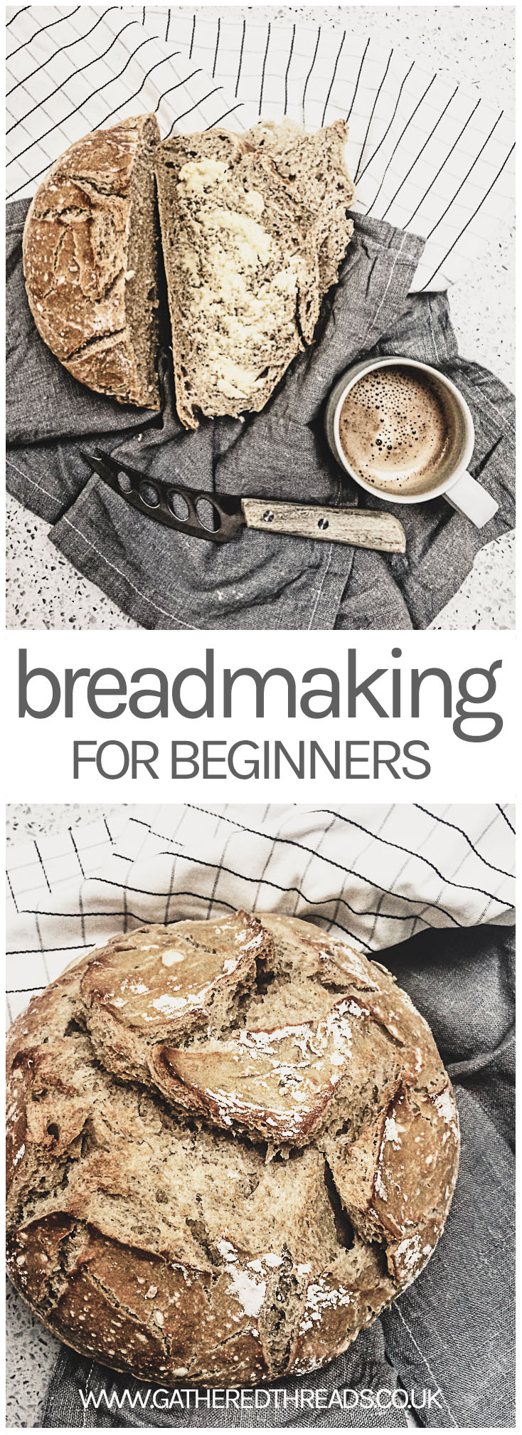 Breadmaking for beginners. An easy fool proof recipe.