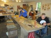 Cattail mat making
