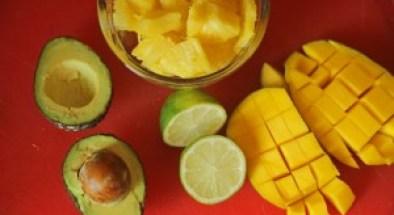 Mango, pineapple, avocado