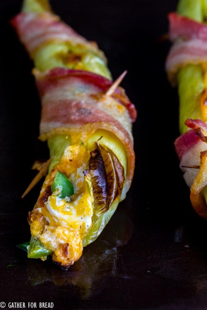 Cheese Stuffed Banana Peppers-
