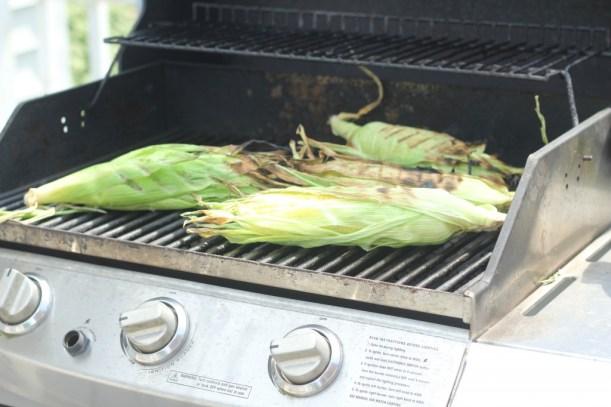 Grilled corn with lemon basil butter gatherforbread.com