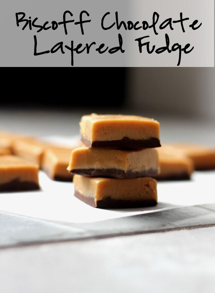 Biscoff Chocolate Layered Fudge