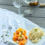 Roasted Butternut Squash & Apples with Risotto