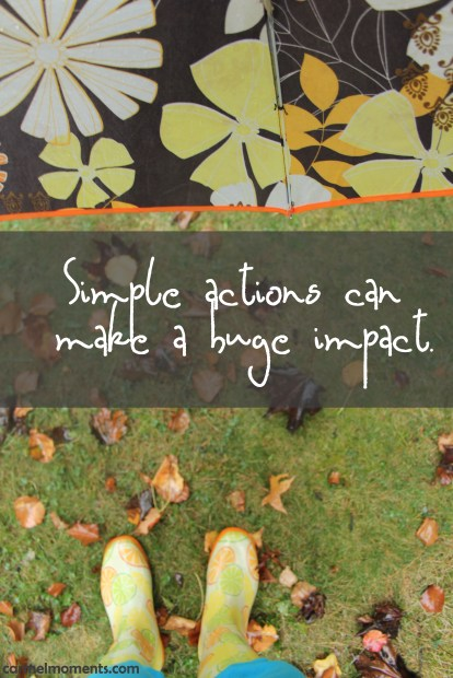 Simple actions can make a huge impact | gatherforbread.com