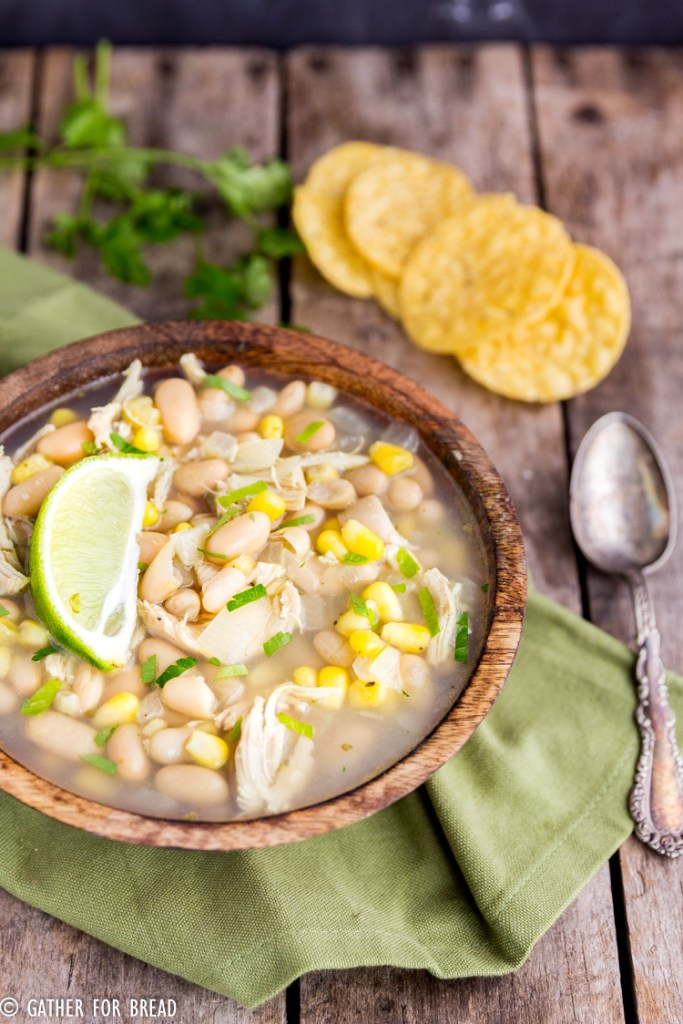 Chicken white bean corn chili gather for bread its easy to whip up and serve on an evening that you dont have much time especially if you already have cooked chicken on hand forumfinder Choice Image