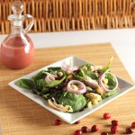 Day After Thanksgiving Salad with Cranberry Vinaigrette