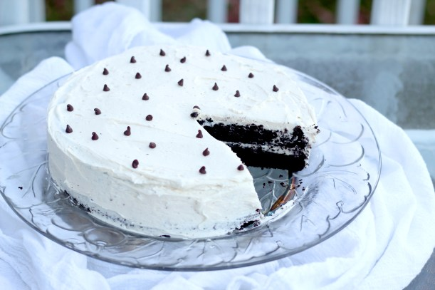 Devil's Food Cake with Buttercream Icing - This rich and delicious chocolate cake is soft and the perfect go-to devil's food recipe. Sour cream, butter, cocoa make this homemade cake irresistible!
