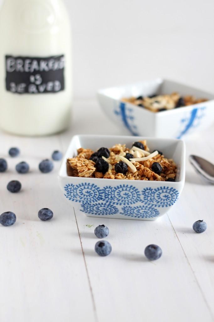 Blueberries and Cream Granola | gatherforbread.com