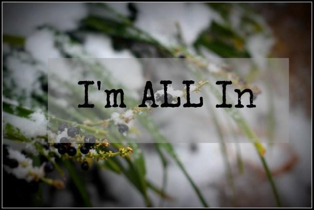 Im ALL In | gatherforbread.com