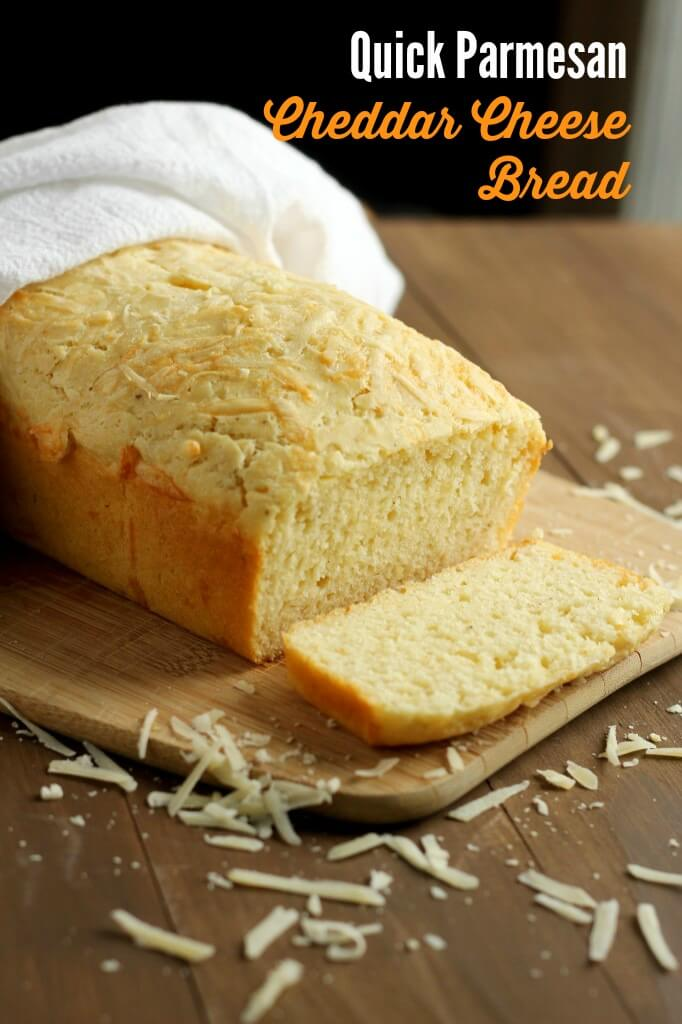 Quick-Parmesan Cheddar Cheese Bread