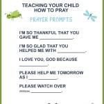 Teaching Your Child How to Pray (Free Printable)