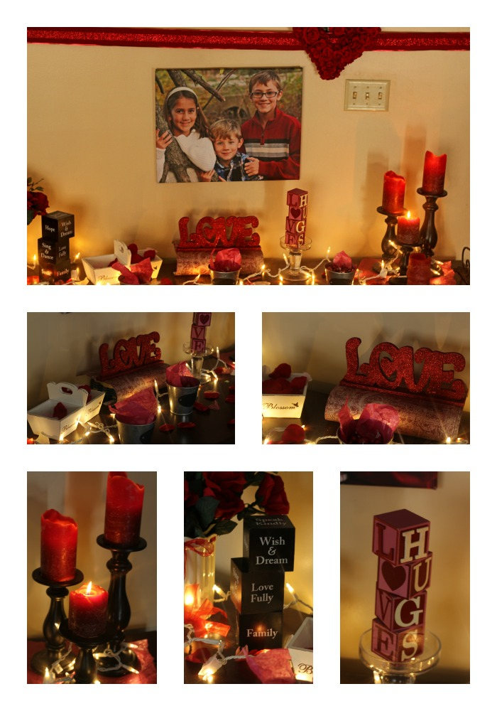 VDAY mantle Collage