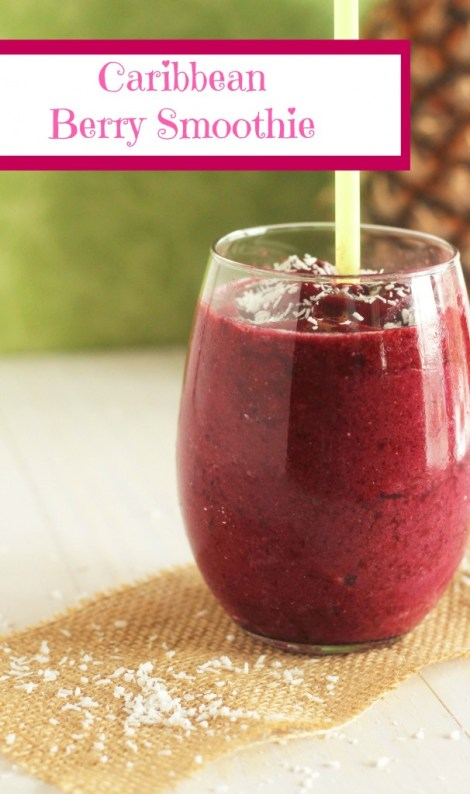 Caribbean Berry Smoothie - Carmel Moments