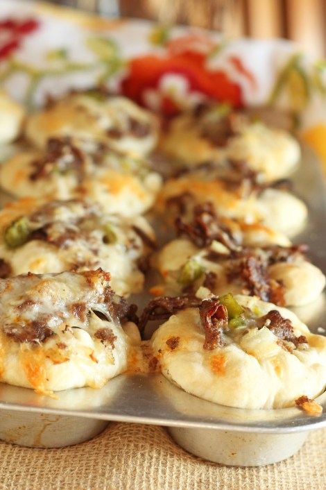 Philly Style Cheesy Steak Cups