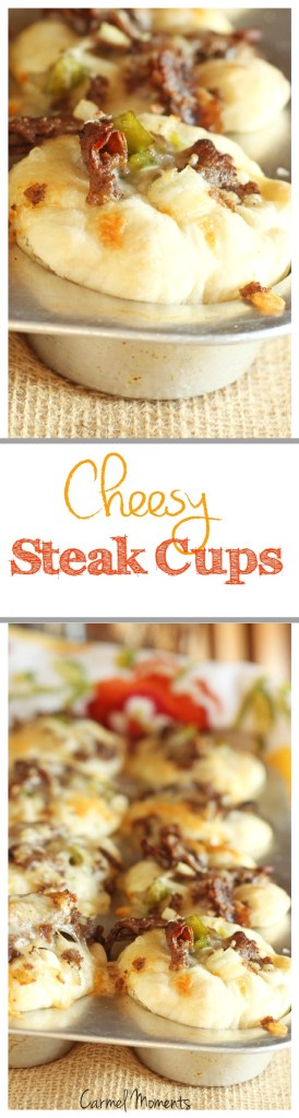Cheesy Philly Style Steak Cups