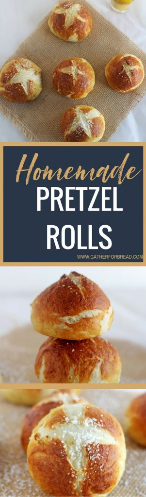 Crusty Homemade Pretzel Rolls - Golden brown, soft on the inside, crusty on the outside. Make this fabulous rolls right at home. Great recipe for the perfect pretzel sandwich roll.