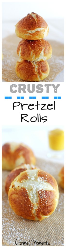 Pretzel Rolls -- Delicious crusty homemade pretzel rolls. Fresh from your oven. | gatherforbread.com