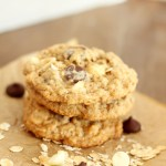 Black and White Whole Wheat Oatmeal Cookies